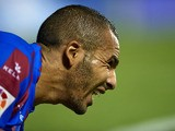Nabil El Zhar of Levante reacts during the La Liga match between Levante UD and RCD Espanyol at Estadio Ciutat de Valencia on October 26, 2013