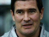 Nigel Clough, then managing Derby County, looks on during a Championship match on March 16, 2013