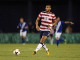 Oguchi Onyewu of the USA passes the ball against Guatemala at Qualcomm Stadium on July 5, 2013 in San Diego, California