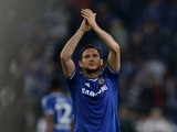 Chelsea´s Frank Lampard celebrates after during the UEFA Champions League Group E football match Schalke 04 vs FC Chelsea in Gelsenkirchen, western Germany on October 22, 2013