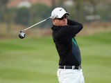 Simon Dyson in action during the second round of the BMW Masters on October 25, 2013