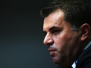 Ange Postecoglou the coach of the Melbourne Victory is seen in the press conference on October 18, 2013