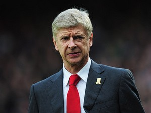 Arsenal manager Arsene Wenger prior to kick-off against Crystal Palace on October 26, 2013