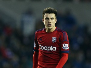 George Thorne of West Bromwich Albion looks on during the Barclays Premier League match between Reading and West Bromwich Albion at the Madejski Stadium on January 12, 2013