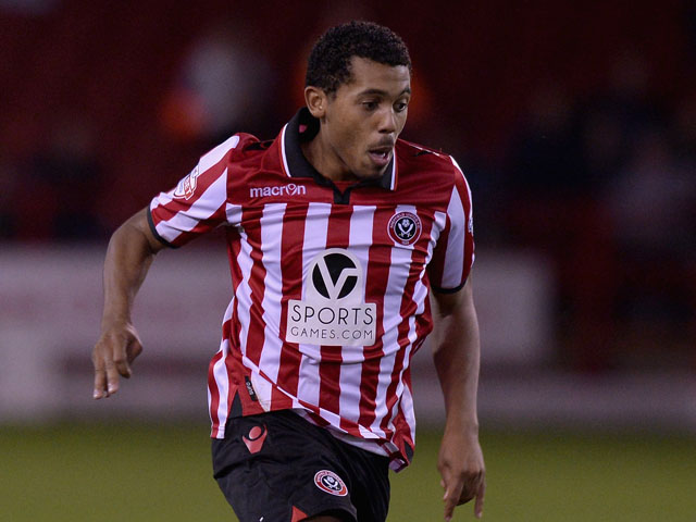 Ryan Hall of Sheffield Utd during the Sky Bet League One match between Sheffield United and Crawley Town at Bramall Lane on October 04, 2013