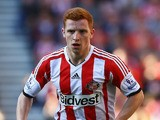 Jack Colback of Sunderland in action during the Barclays Premier League match between Sunderland and Liverpool at the Stadium of Light on September 29, 2013