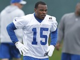 LaVon Brazill of the Indianapolis Colts looks on during a rookie minicamp at the team facility on May 4, 2012