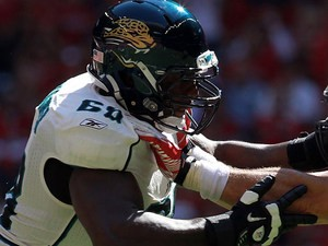 Jacksonville Jaguars' Guy Whimper in action against Houston Texans on October 30, 2011