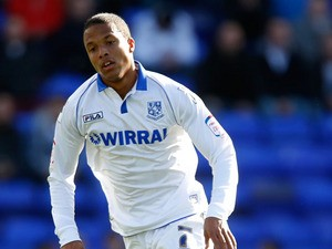 Joe Thompson of Tranmere during the npower League One match between Tranmere Rovers and Brentford at Prenton Park on September 29, 2012