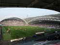 A general view of Huddersfield Town's John Smith's Stadium on March 24, 2012