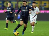 Javier Zanetti of FC Inter Milan in action during the Serie A match between FC Internazionale Milano and AS Livorno Calcio at San Siro Stadium on November 9, 2013