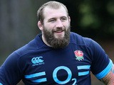 Joe Marler looks on during the England training session at Pennyhill Park on November 7, 2013