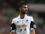 Jordi Amat of Swansea City during the Barclays Premier League match between Swansea City and Arsenal at the Liberty Stadium on September 28, 2013