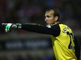 Mark Schwarzer of Chelsea during the Capital One Cup third round match between Swindon Town and Chelsea at the County Ground on September 24, 2013