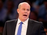 Head coach Steve Clifford of the Charlotte Bobcats directs his players in the first quarter against the New York Knicks at Madison Square Garden on November 5, 2013