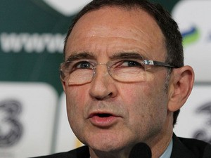 Republic of Ireland's new football manager Martin O'Neill speaks during a press conference to announce his official appointment at the Gibson Hotel in Dublin, Ireland on November 9, 2013