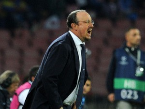 Head coach Rafael Benitez of SSC Napoli during the UEFA Champions League Group F match between SSC Napoli and Olympique de Marseille at Stadio San Paolo on November 6, 2013
