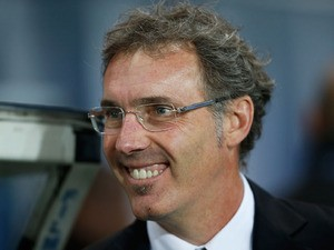 PSG manager Laurent Blanc looks on prior to the UEFA Champions League Group C match between Paris Saint Germain and RSC Anderlecht at Parc des Princes on November 5, 2013