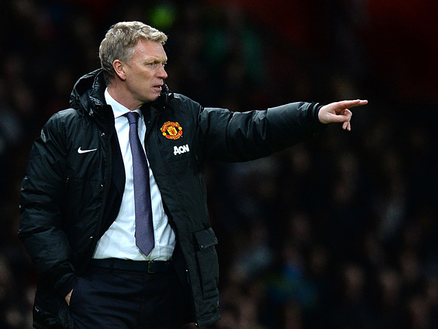 Man United manager David Moyes gestures on the touchline during the match against Arsenal on November 10, 2013