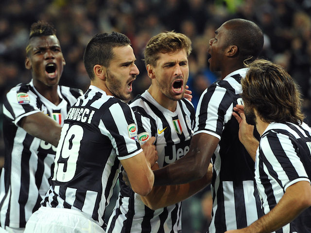Fernando Llorente of Juventus celebrates after scoring the opening    Fernando Llorente Juventus Goal