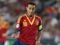 Spain's Thiago Alcantara in action against Italy during the final of the UEFA European U21 Championships on June 18, 2013
