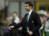 Head coach FC Inter Milan Andrea Stramaccioni dejected during the Serie A match between FC Internazionale Milano and Udinese Calcio at San Siro Stadium on May 19, 2013