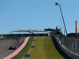 General view of the rise leading to the first corner during practice for the United States Formula One Grand Prix at Circuit of The Americas on November 15, 2013