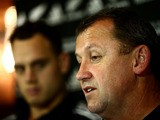 All Black assistant coach Ian Foster speaks to media at the Royal Garden Hotel on November 11, 2013