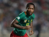 Jean Makoun of Cameroon in action during the FIFA 2014 World Cup qualifier at the Stade Olympique de Radès on October 13, 2013