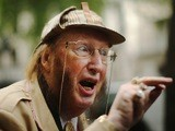 Racing pundit John McCririck arrives at Victory House for the start of his employment tribunal on September 30, 2013 in London, England