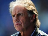 Football pundit Mark Lawrenson looks on before the npower Championship game between Cardiff City and Queens Park Rangers at Cardiff City Stadium on April 23, 2011