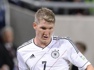 Bastian Schweinsteiger in action for Germany against the Republic of Ireland on October 12, 2012.