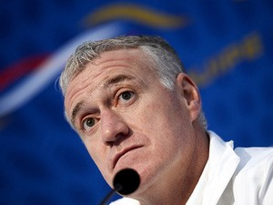 France head coach Didier Deschamps during a press conference on November 11, 2013