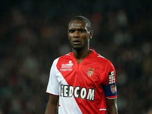 Monaco's Eric Abidal in action against PSG during their Ligue 1 match on September 22, 2013