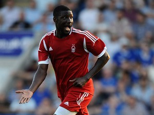 Forest's Guy Moussi in action during a friendly match on July 16, 2013