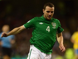 John O'Shea of Republic of Ireland in action during the FIFA 2014 World Cup Qualifying Group C match against Sweden on September 6, 2013