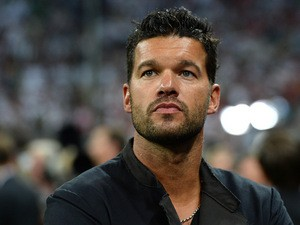 Former Germany player Michael Ballack looks on during the World Cup qualifying match between Austria and - michael-ballack