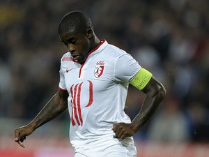 Lille's Rio Mavuba in action against Montpellier on October 19, 2013