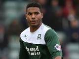 Reuben Reid of Plymouth Argyle in action during the Sky Bet League Two match between Plymouth Argyle and Northampton Town at Home Park on November 2, 2013