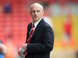 Then Bristol City manager Steve Coppell looks on during the pre-season friendly match between Bristol City and Blackpool at Ashton Gate on July 31, 2010