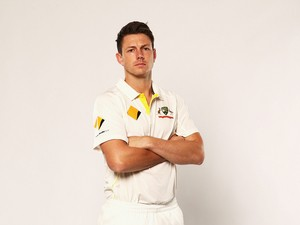 James Pattinson of Australia poses on October 2, 2013