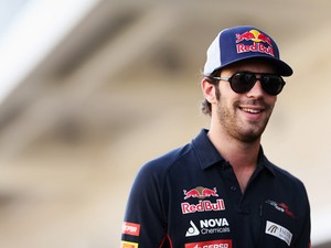 Jean-Eric Vergne of France and Scuderia Toro Rosso attends the drivers parade before the United States Formula One Grand Prix at Circuit of The Americas on November 17, 2013