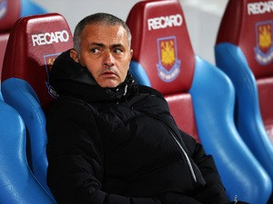 Jose Mourinho manager of Chelsea looks on during the Barclays Premier League match between West Ham United and Chelsea at Boleyn Ground on November 23, 2013