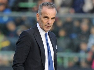 Bologna manager Stefano Pioli on the touchline during the match against Atalanta on November 10, 2013