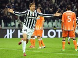 Fernando Llorente of Juventus celebrates after scoring the opening goal during the Serie A match between Juventus and Udinese Calcio at Juventus Arena on December 1, 2013
