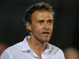 Celta de Vigo head coach Luis Enrique looks on during the La Liga match between Getafe CF and RC Celta de Vigo at Coliseum Alfonso Perez on September 26, 2013