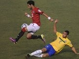 Mohamed Salah in action for Egypt against Brazil on July 07, 2011.