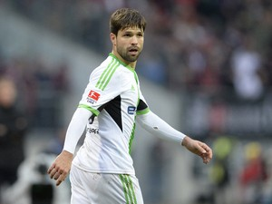Wolfsburg's Brazilian midfielder Diego is pictured during the German first division Bundesliga football match between FC Nuremberg vs VfL Wolfsburg in Nuremberg, southern Germany, on November 23, 2013