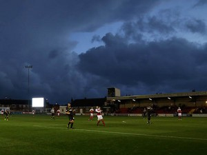 A general view during the Sky Bet League two match between Fleetwood Town and Newport County at Highbury Stadium on November 02, 2013