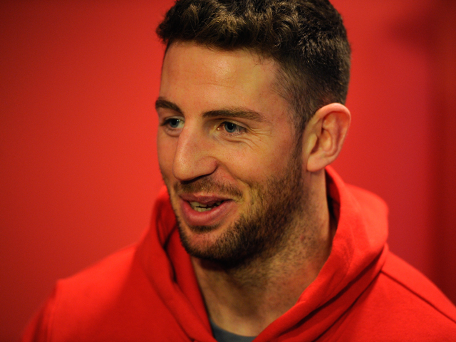 Wales winger Alex Cuthbert faces the media after being recalled ahead of saturday's international against Australia, at the Vale hotel on November 26, 2013